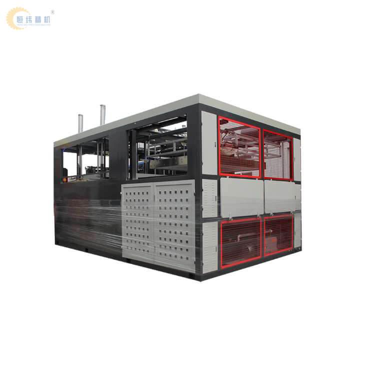 HW-2000全自动pp早餐车挡板吸塑机